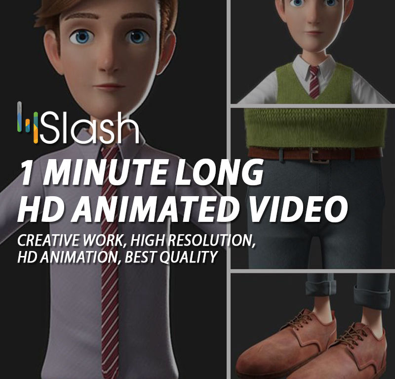 1 Minute long HD Animated Video