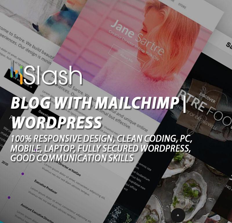 Blog with Mailchimp | WordPress
