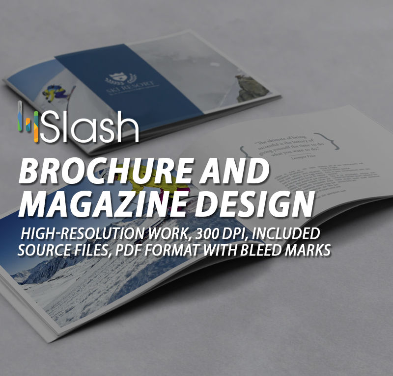 Brochure and Magazine Design