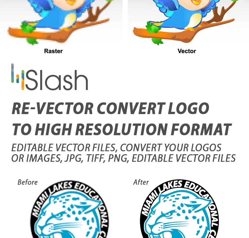 Re-vector Convert Logo to High resolution format