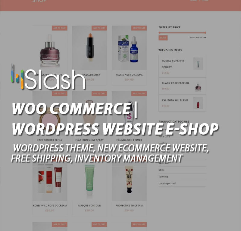 Woo Commerce | WORDPRESS WEBSITE E-SHOP