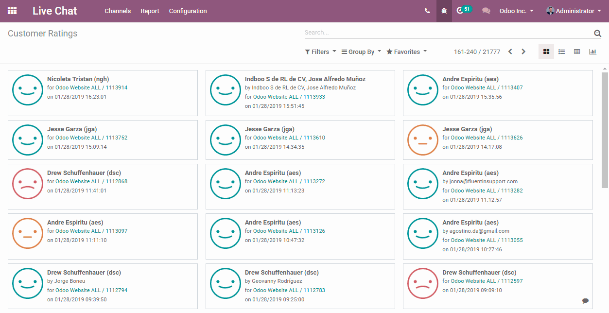 Live-Chat-Ratings